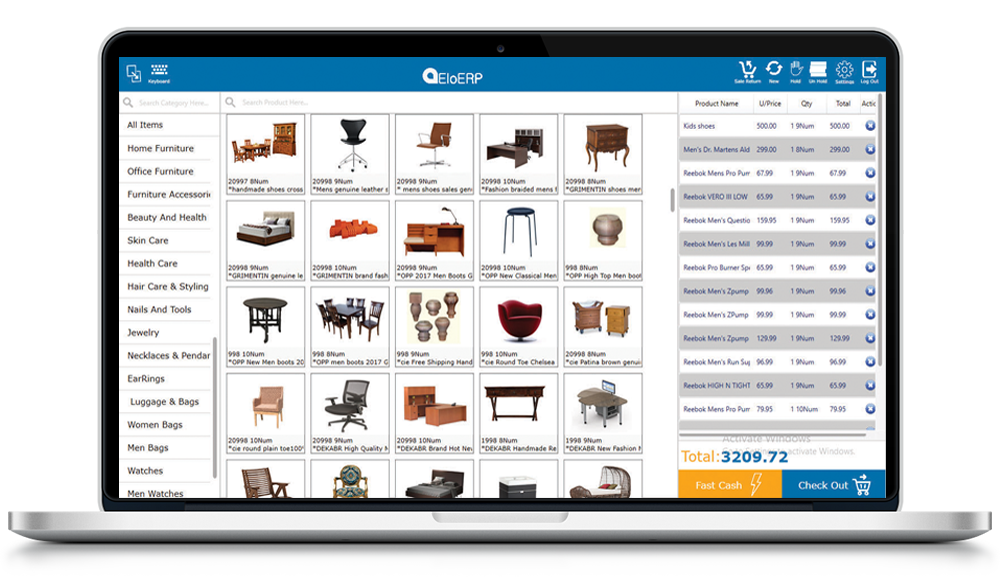 . Furniture Store Point of Sale Software   EloERP