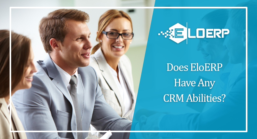 Does EloERP Have Any CRM Abilities?